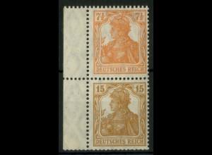 Dt. Reich, S 7 ba, ungebraucht, Mi.-Handbuch 90,- (14517)