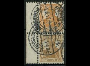 Dt. Reich, S 7 LR 1, gest., dgz. Rand mit StrL, Mi.-Handbuch 280,- (14518)