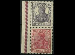 Dt. Reich, S 9, postfrisch, Rand Falz, Mi.-Handbuch 40,- (14521)