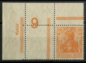 Dt. Reich, RL 1 EOL, Ecke oben links, postfrisch, Mi.-Handbuch 150,- (14631)