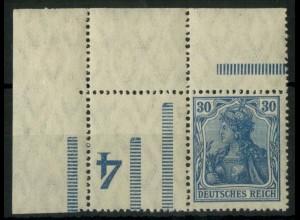 """Dt. Reich, RL 3 EOL, Ecke mit BKZ """"4"""", postfrisch, Mi.-Handbuch 150,- (14671)"""
