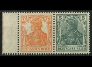 Dt. Reich, W 6 ab LR 1 orange, ungebr., gepr. BPP, Mi.-Handbuch 75,- (14881)