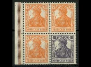 Dt. Reich, W 11 ba LR 3, postfrisch, Befund BPP, Mi.-Handbuch 600,- (14886)