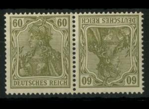 Dt. Reich, K 4 PF I, Plattenfehler, postfr., Mi.-Handbuch 100,- (14912)