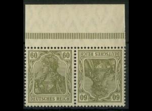 Dt. Reich, K 4 PF I, Plattenfehler m. OR, postfr., Mi.-Handbuch 120,- (14915)