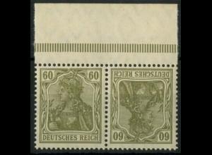 Dt. Reich, K 4 PF I, Plattenfehler m. OR, postfr., Mi.-Handbuch 120,- (14917)