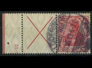 "Dt. Reich, W 4 LR 1 HAN, gestempelt, HAN ""5.12"", Mi.-Handbuch 750,- (14936)"