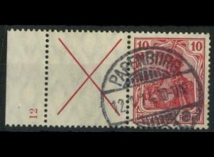 "Dt. Reich, W 4 LR 0 HAN, gestempelt, HAN ""12"", Mi.-Handbuch 750,- (14939)"