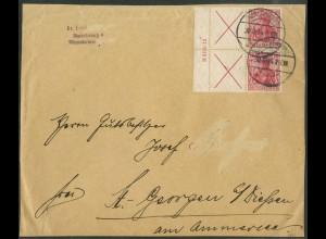 """Dt. Reich, W 4 LR 1 HAN (2), Briefst., HAN """"H 3195.12"""", Mi.-Handb. 1500,-(14942)"""