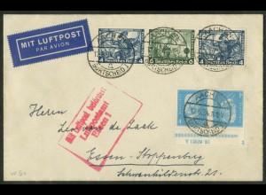 Dt. Reich, K 9 HAN 2.2 + W 50, portoger. Lp-Brief, Mi.-Handbuch 760,- (15091)