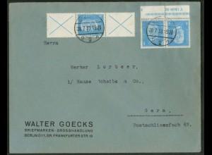 Dt. Reich, K 9 HAN 2.2 + S 39, portoger. Fern-Brief, Mi.-Handbuch 900,- (15092)