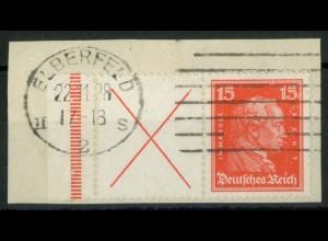 Dt. Reich, W 23 LR 1, Briefstück, dg StrL, Mi.-Handbuch 220,- (15158)