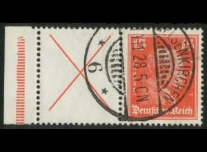 Dt. Reich, W 23 LR 2, gestempelt, StrL ok, Mi.-Handbuch 250,- (15167)