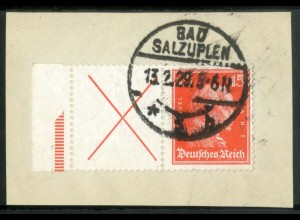 Dt. Reich, W 23 LR 2, Briefstück, StrL ok, Mi.-Handbuch 250,- (15168)