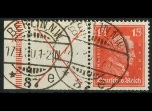 Dt. Reich, W 23 FN 1, gestempelt, Formnummer 1, Mi.-Handbuch 600,- (15189)