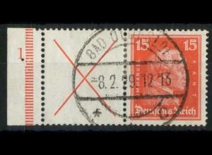 Dt. Reich, W 23 FN 1, gestempelt, Formnummer 1, Mi.-Handbuch 600,- (15192)