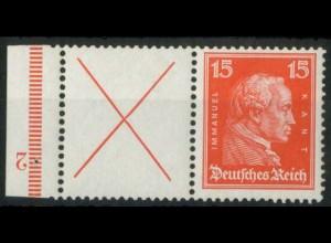 Dt. Reich, W 23 FN 2.1, ungebr., Form-Nr. 2, Mi.-Handbuch 150,- (15194)