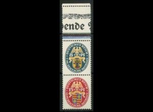 Dt. Reich, S 50 L 1, postfrisch, mit Leerfeld, Mi.-Handbuch 250,- (15398)