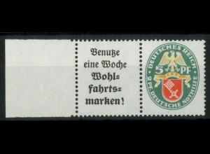 Dt. Reich, W 35 LR, postfrisch, linker Rand aus MHB, Mi.-Handbuch 65,- (15438)