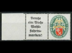 Dt. Reich, W 35 LR, postfrisch, linker Rand aus MHB, Mi.-Handbuch 65,- (15439)