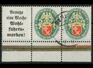 Dt. Reich, W 35 UR 1, gestempelt, Unterrand, Mi.-Handbuch 90,- (15441)