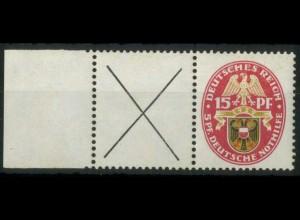 Dt. Reich, W 36 LR, postfrisch mit Rand aus MHB, Mi.-Handbuch 85,- (15447)