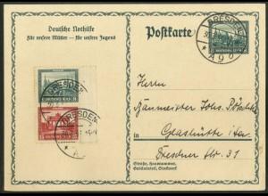 Dt. Reich, S 76 RR 1, auf GA-Karte, Mi.-Handbuch 40,- (15594)