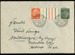 Dt. Reich, KZ 29.1, Einzelfrankatur auf Fern-Brief, Mi. 160,- (15616)
