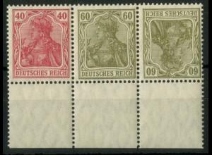 Dt. Reich, WK 3 UR 1, postfrisch, dgz Unterrand, Mi.-Handbuch 80,- (15618)