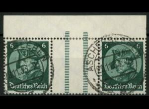 Dt. Reich, WZ 9 OR 3, gestempelt, ndgz Oberrand, Mi.-Handbuch 70,- (15661)
