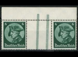 Dt. Reich, WZ 9 OR 3, postfrisch, StrL schräg, nicht im Mi.-Handbuch (15662)
