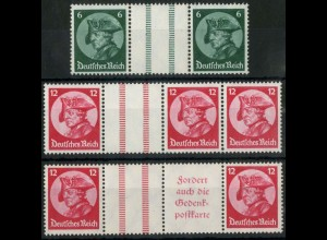 Dt. Reich, WZ 9 bis WZ 11, tadellos postfrisch, Mi. 220,- (15677)