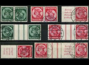 Dt. Reich, ex K 17 - WZ 11, Lot mit 7 versch. Zd., gestempelt, Mi. 405,- (15692)