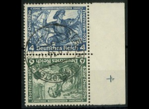 Dt. Reich, SK 19 RR 2, gestempelt, Passerkreuz, Mi.-Handbuch 180,- (15791)