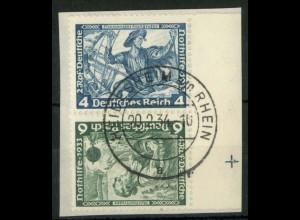 Dt. Reich, SK 19 RR 2, Briefstück, Passerkreuz, Mi.-Handbuch 180,- (15793)