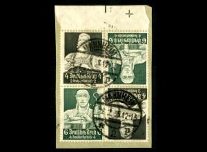 Dt. Reich, K 23 OR 2 + K 23, PL-Nr., Briefstück, Michel-Handbuch 125,- (16429)
