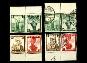 Dt. Reich, K 25 + K 26 jeOR + UR, postfr./gest., Michel-Handbuch 80,- (16519)