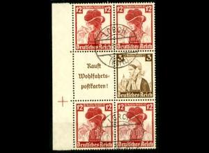 Dt. Reich, S 242 LR 2 + S 236, gestempelt, Michel-Handbuch 80,- (16546)