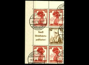 Dt. Reich, S 242 EOL 1 + S 236 OR, gestempelt, Michel-Handbuch 80,- (16553)