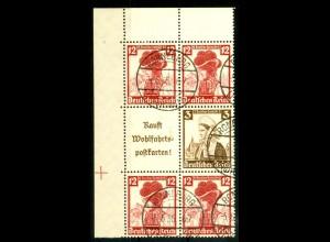 Dt. Reich, S 242 EOL 2 + S 236 OR, gestempelt, Michel-Handbuch 110,- (16554)