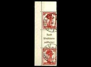 Dt. Reich, S 242 EOL 4, gestempelt, Platten-Nr., Michel-Handbuch 200,- (16563)