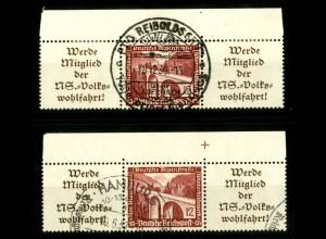 Dt. Reich, W 112 OR 1+2, gestempelt, Michel-Handbuch 100,- (16653)