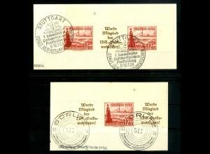 Dt. Reich, W 128 EOL 2 + W 130 EOR 2, Briefstücke, Michel-Handbuch 150,- (16707)