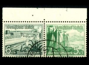 Dt. Reich, W 123 OR 4, gestempelt, 2x Platten-Nr., Michel-Handbuch 150,- (16713)