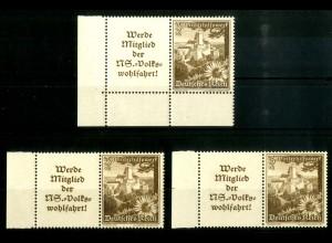 Dt. Reich, W 135 LR 1+2, EUL, postfrisch, Michel-Handbuch 85,- (16782)
