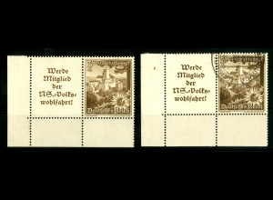 Dt. Reich, W 135 EUL (2), postfrisch + gestempelt, Michel-Handbuch 80,- (16784)