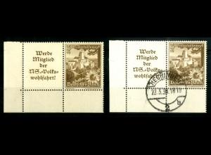 Dt. Reich, W 135 EUL (2), postfrisch + gestempelt, Michel-Handbuch 80,- (16786)