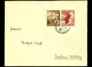 Dt. Reich, K 34 UR 3, Fernbrief, Form-Nr., Michel-Handbuch 80,- (16848)