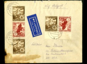 Dt. Reich, K 34 UR 3, Luftpost-Brief, Form-Nr., Michel-Handbuch 70,- (16850)