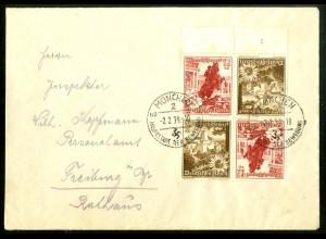 Dt. Reich, S 249 UR 2, Fern-Brief, Form-Nr., Michel-Handbuch 100,-(16859)